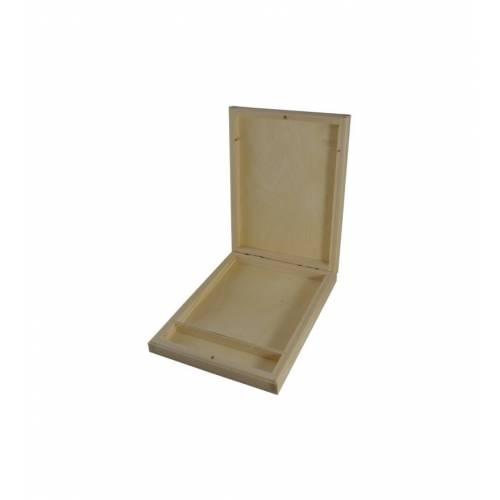 Drewniane pudełko na zdjęcia i pendrive 1