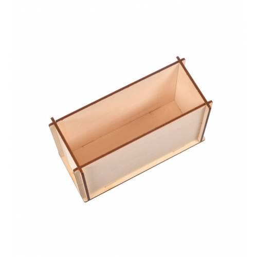 Drewniane pudełko na akcesoria przybornik do decoupage