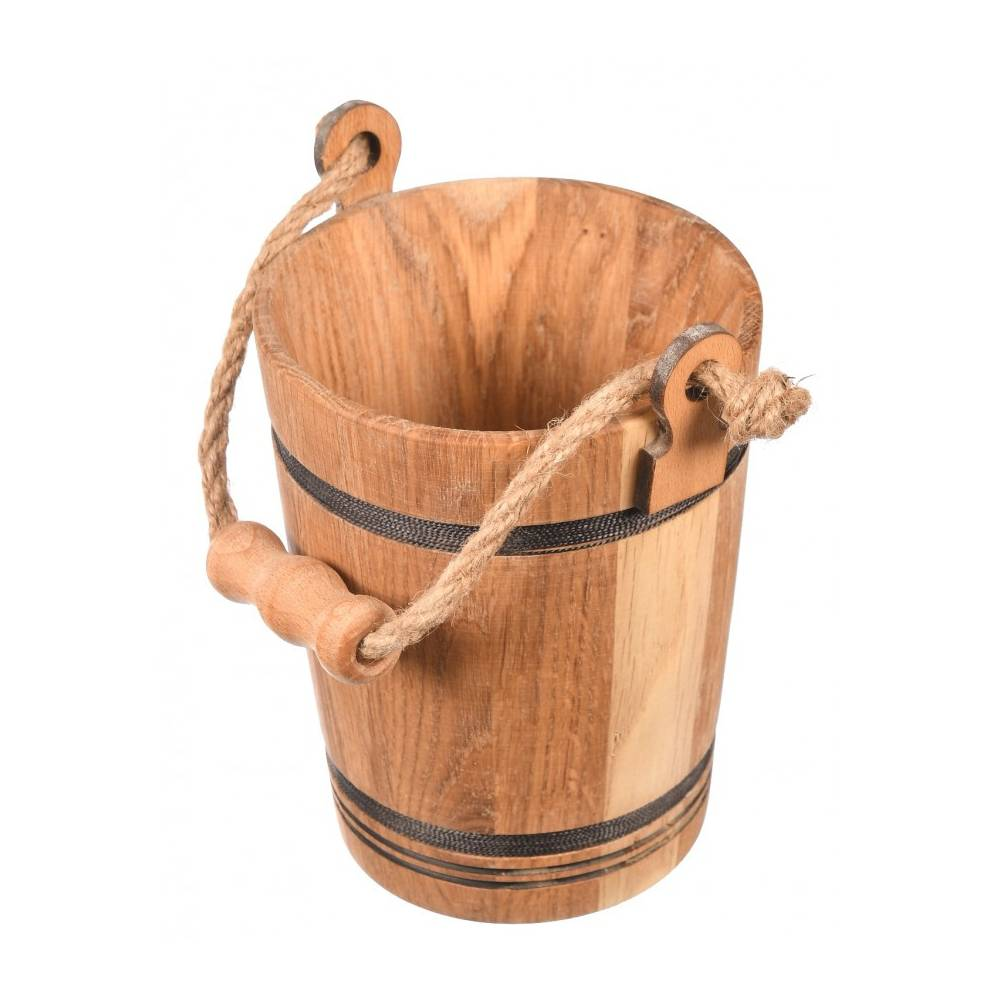 Drewniane wiaderko +...