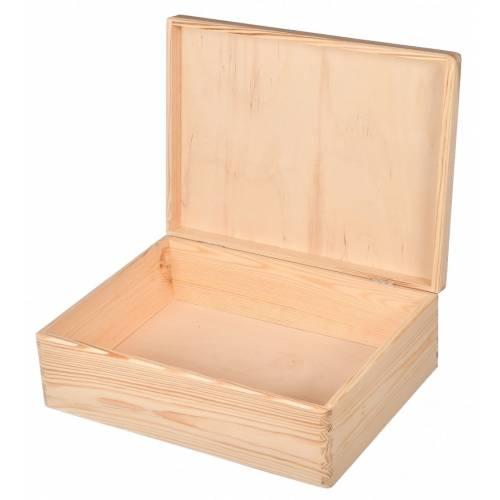 Drewniane pudełko do decoupage 40x30cm PREZENT