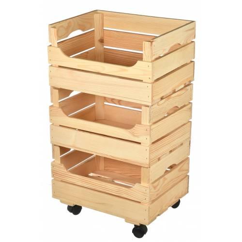 Drewniany regał na warzywa owoce pojemnik