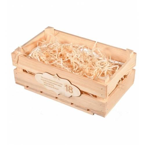 Skrzynka drewniana z grawerem prezent na urodziny
