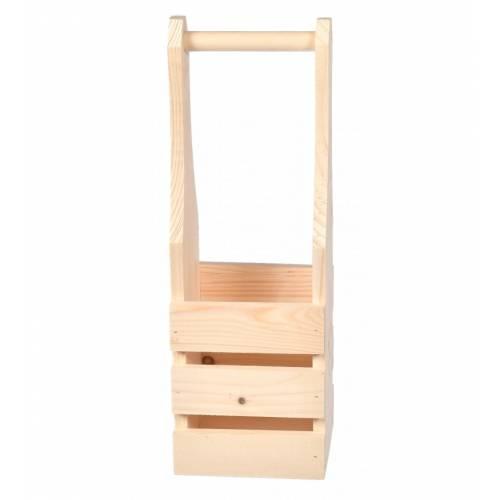 Drewniana skrzynka nosidło...