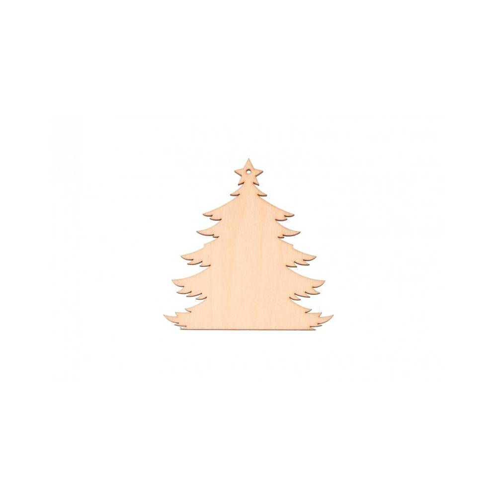 Drewniana zawieszka choinka