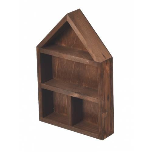 Drewniana brązowa półka...
