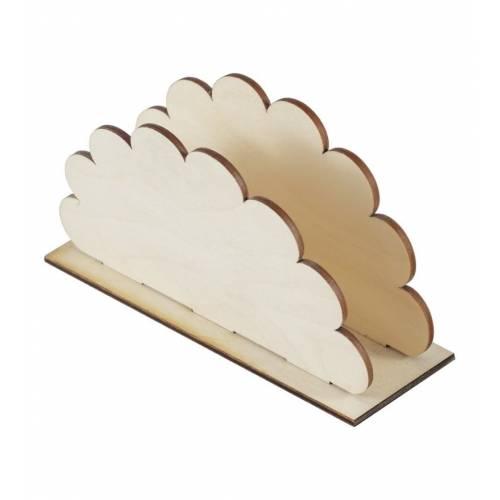 Drewniany serwetnik na stół CHMURKA