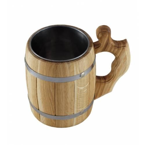 Kufek dębowy z wkładem beczka drewno baniak