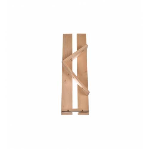 Drewniany wieszak na cztery buteli i dwa kieliszki PREZENT