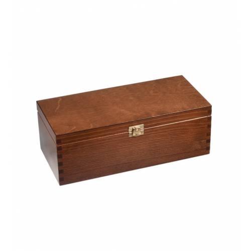 Drewniana skrzynka szkatułka na zatrzask PREZENT