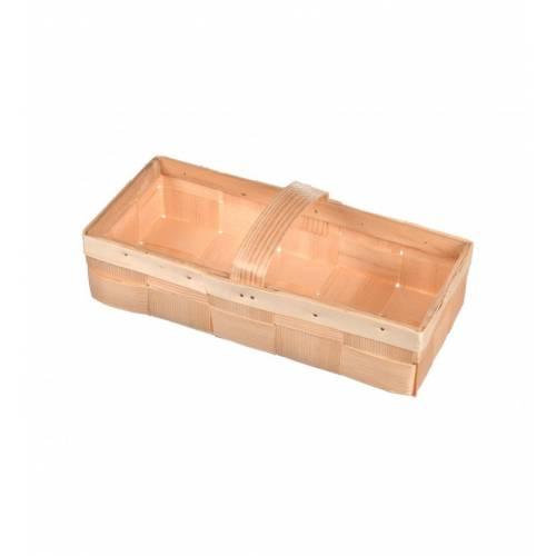 Skrzynka drewniana na owoce łubianka 27x12x6cm