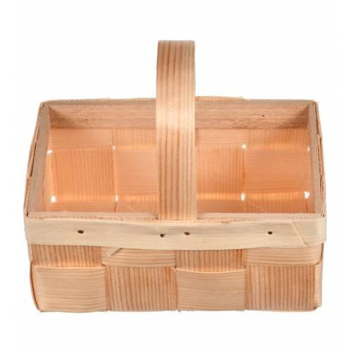 Drewniany koszyk łubianka...