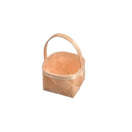 Koszyk z łuby sosnowej kwadratowy na owoce organizer dekoracja