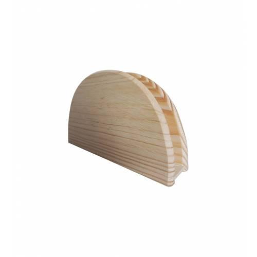 Serwetnik na stół drewniany półokrągły