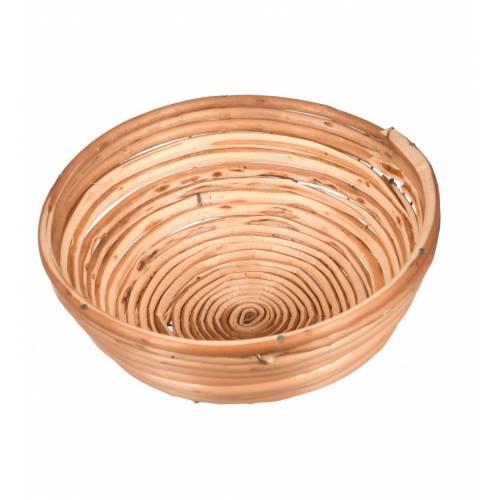 Drewniany koszyk wiklinowy na pieczywo okrągły śr.20cm