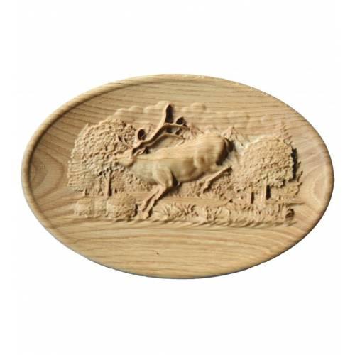 Płaskorzeźba z drewna...