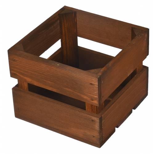Drewniana skrzynka brązowa kwadratowa jarzyniarka, do ogrodu na taras 20 cm