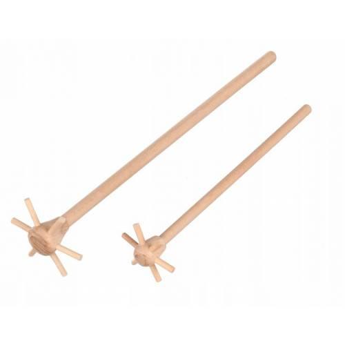 Drewniana mątewka ubijak rogolka 27cm
