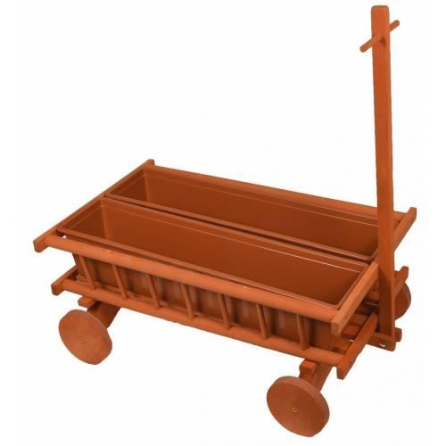 Kwietnik drewniany wózek do ogrodu taczki 110 cm