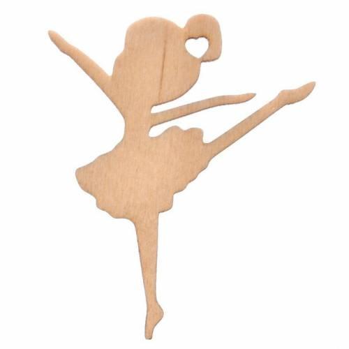 Drewniany dekor baletnica