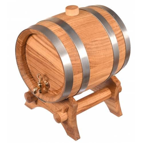 Wysokiej jakości drewniana BĘBOWA beczka na wino, piwo ALKOHOL 2,5L