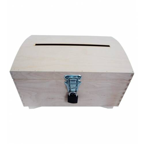 Skrzynka drewniana otwierana na koperty EKO