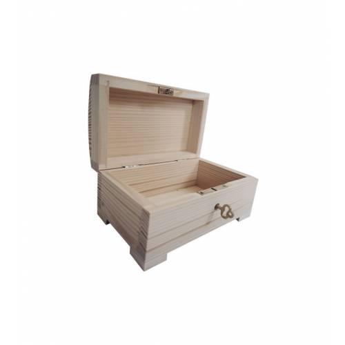 Skrzynka drewniana otwierana 15x9,5x8,5cm