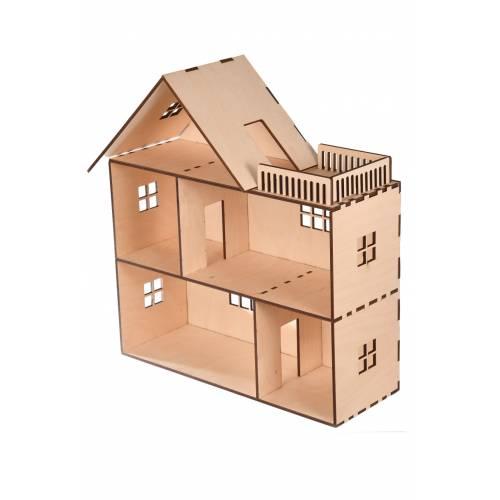 Domek dla lalek z tarasem