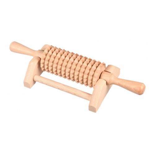 Drewniany masażer na podstawce do ciała EKO