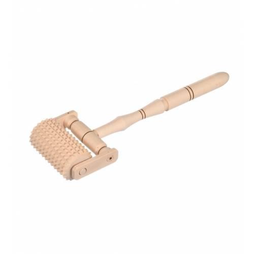 Drewniany masażer do ciała z rączką