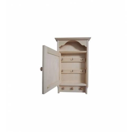 Drewniany domek na klucze+kołki