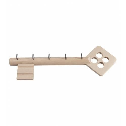 Drewniany wieszak w kształcie klucza