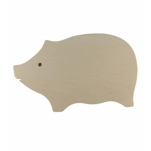 DREWNIANA deska do krojenia świnka