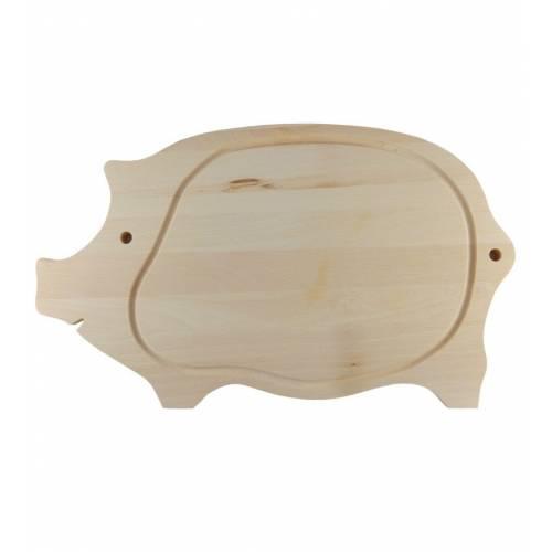 Drewniana deska do krojenia świnka duża