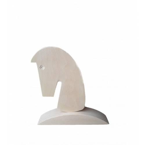 Drewniana figurka w kształcie głowy konia DECOUPAGE