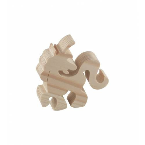 Drewniana figurka jednorożec mały DECOUPAGE