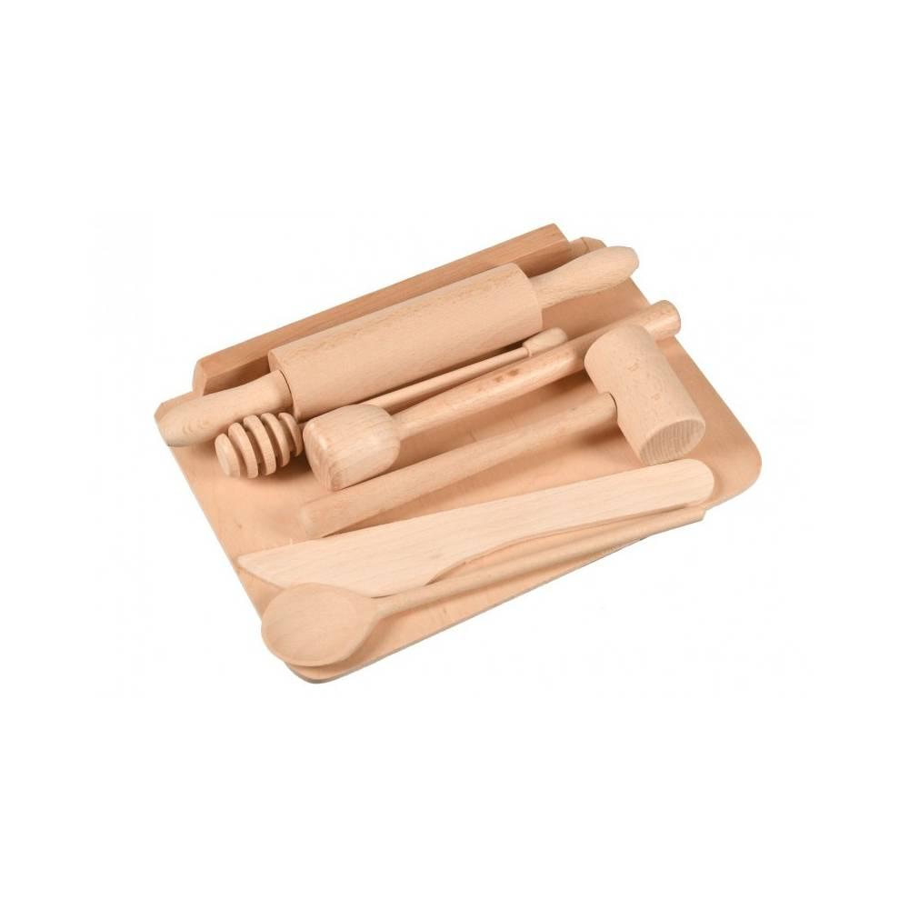 drewniany zestaw do kuchni