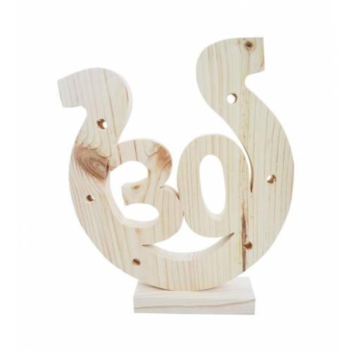 Drewniana podkowa na 30-ste urodziny