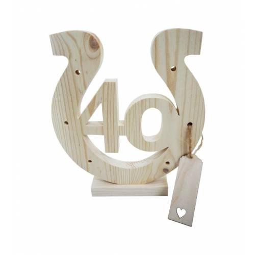 Drewniana podkowa na 40-ste urodziny