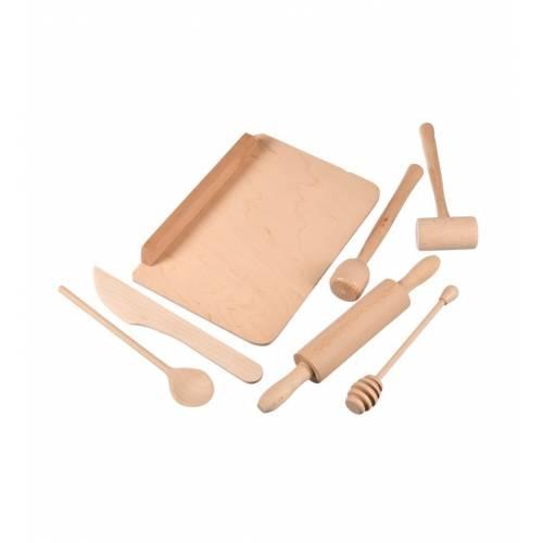 Drewniany zestaw dla małej kucharki