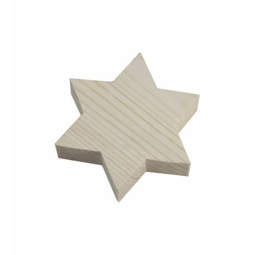 Drewniana gwiazdka ozdobna do DECOUPAGE 9x9cm