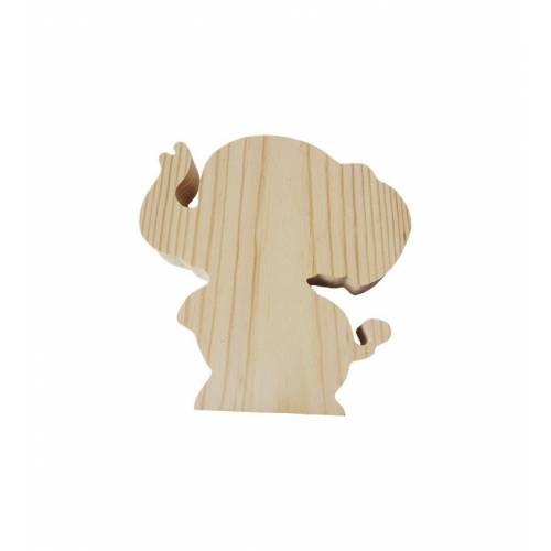 Drewniany szablon SŁONIK figurka do DECOUPAGE