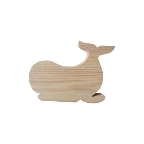 Drewniany szablon WIELORYB figurka do DECOUPAGE