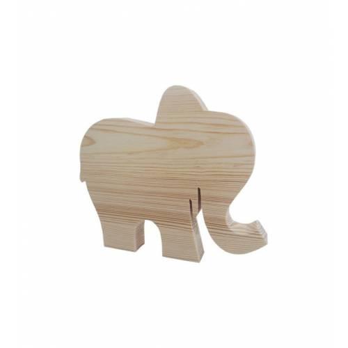 Drewniany szablon SŁONIK duży figurka do DECOUPAGE