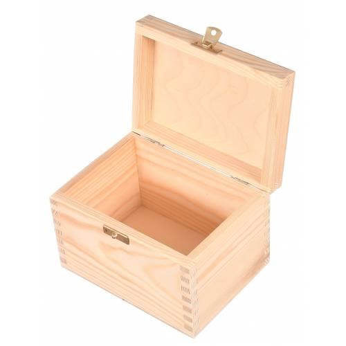Skrzynka drewniana z zapięciem kuferek DECOUPAGE