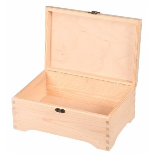 Pudełko drewniane organizer z zapięciem EKO