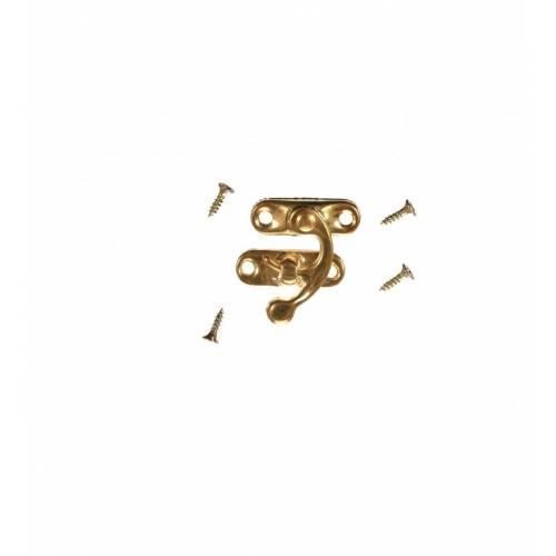 Zapięcie metalowe do skrzynek - złote